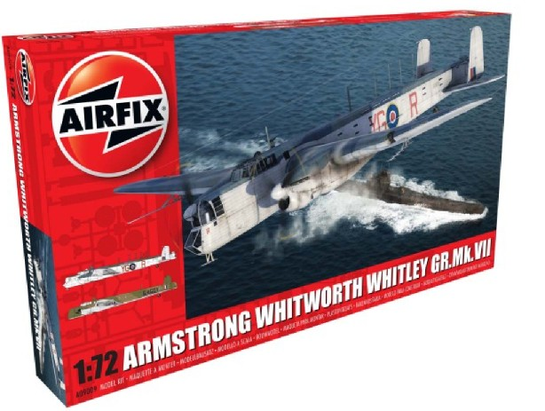 Airfix 1/72 Armstrong Whitworth Whitley Mk VII Heavy Bomber Model Kit
