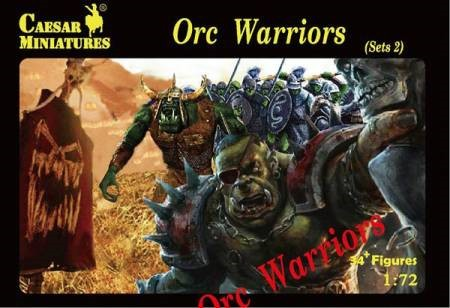 Caesar Miniatures  1/72 Fantasy Orc Warriors Set #2 (34+) 109