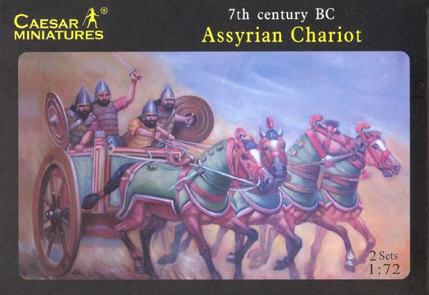 Caesar Miniatures 1/72 7th Century BC Assyrian (8) w/2 Chariots & 8 Horses