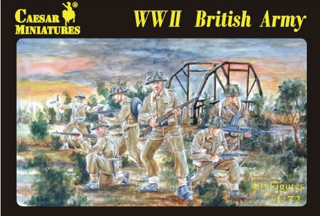 Image 0 of Caesar Miniatures 1/72 WWII British Army (40)