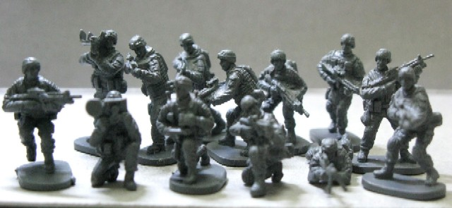 Caesar Miniatures 1/72 Modern US Elite Force (40)