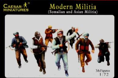 Caesar Miniatures1/72 Modern Militia Somalian & Asian (36)