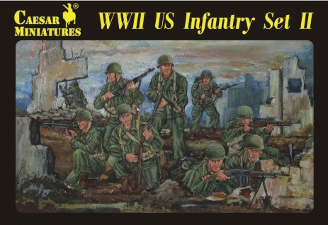 Caesar Miniatures 1/72 WWII US Infantry Set #2 (34)