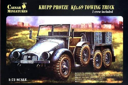 Caesar Miniatures 1/72 Krupp Protze Kfz69 Towing Truck w/1 Crew (Kit)