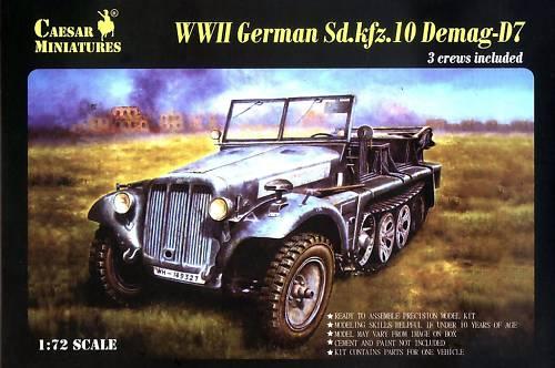 Caesar Miniatures 1/72 WWII German SdKfz 10 Demag D7 w/3 Crew (Kit)