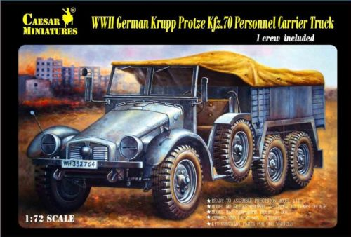 Image 0 of Caesar Miniatures 1/72 WWII German Krupp Protze Kfz 70 Personnel Carrier Truck w
