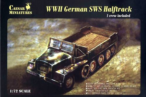 Caesar Miniatures 1/72 WWII German sWS Halftrack w/Figure