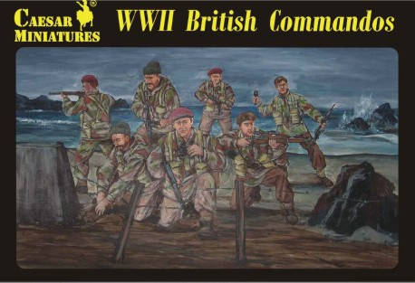 Caesar Miniatures 1/72 WWII British Commandos (27)