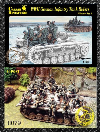Image 0 of Caesar Miniatures 1/72 WWII German Infantry Tank Riders Winter #2 (34) 79