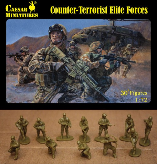 Image 0 of Caesar Miniatures 1/72 Counter-Terrorist Elite Forces (30+)