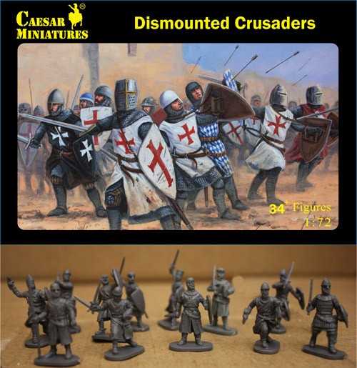 Caesar Miniatures 1/72 Dismounted Crusaders (34+)