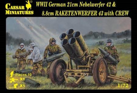Image 0 of Caesar Miniatures 1/72 WWII German 21cm Nebelwerfer 42 & 8.8cm Rakentenwerfer 43