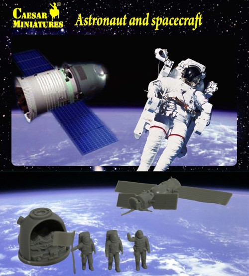 Caesar Miniatures 1/72 Astronauts (3) & Spacecraft (2)