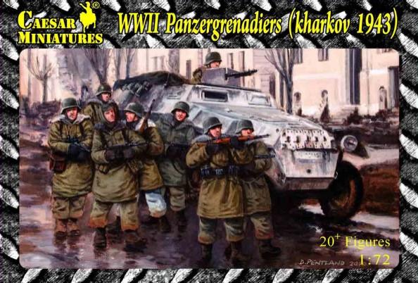 Image 0 of Caesar Miniatures 1/72 WWII Panzergrenadiers Kharkov 1943 (20)