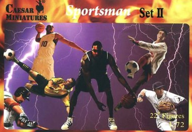 Caesar Miniatures 1/72 Sportsmen Set 2: Basketball (28)
