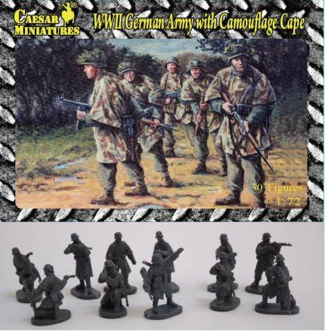 Image 0 of Caesar Miniatures 1/72 WWII German Army w/Camouflage Cape (34)