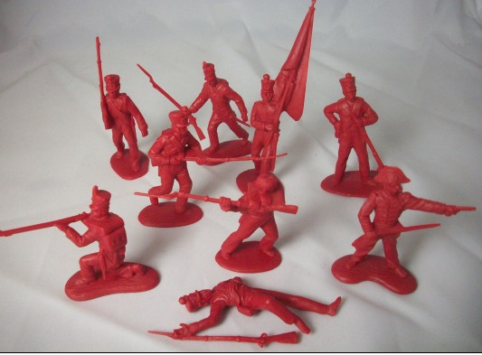 Image 0 of CTS 1/32 Alamo Mexican Infantry Set #1 (12)
