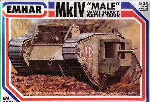 Emhar 1/35 WWI British Male Mk IV Tank