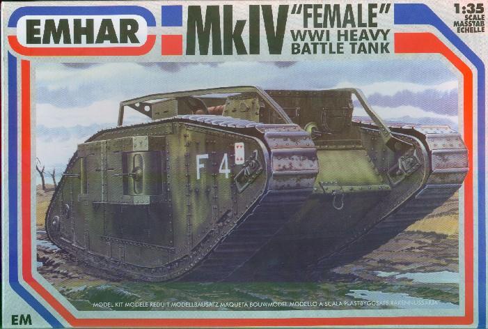 Emhar 1/35 WWI British Female Mk IV Tank