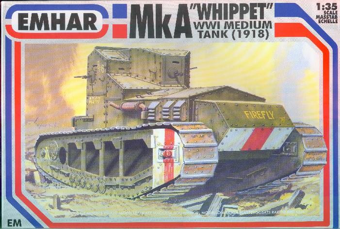 Emhar 1/35 WWI British Whippet Mk IV Tank