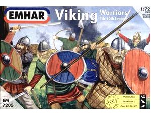 Emhar 1/72 9th-10th Century Viking Warriors (50)