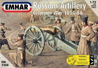 Emhar 1/72 Crimean War 1854-56 Russian Artillery (27) w/3 Guns