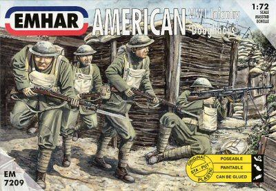 Emhar 1/72 WWI American Doughboys Infantry (50)