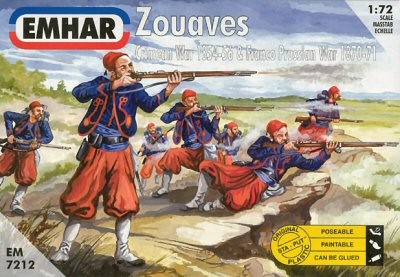Emhar 1/72 Crimean War 1854-56 & Franco Prussian War 1870-71 Zouaves (50)