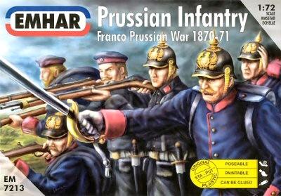 Emhar 1/72 Franco Prussian War 1870-71 Prussian Infantry (50)