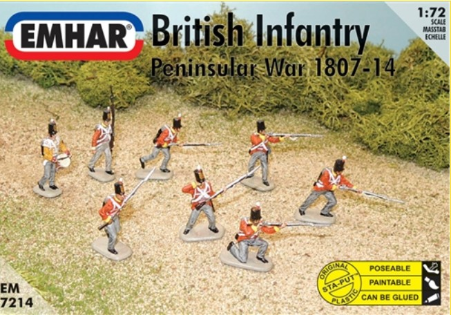 Emhar 1/72 Peninsular War 1807-14 British Infantry (48 & 1 Horse)