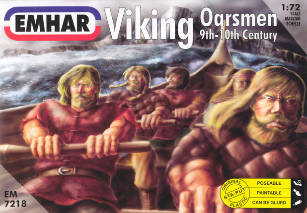Image 0 of Emhar 1/72 9th-10th Century Viking Oarsmen (32 seated & 10 standing)