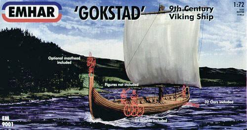 Emhar 1/72 9th Century Gokstad Viking Ship