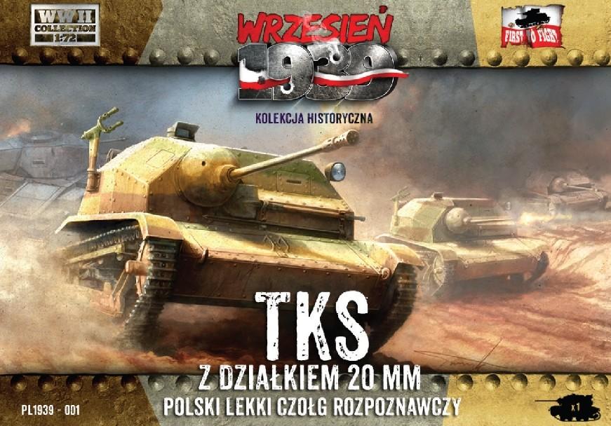 First To Fight 1/72 TKS Polish Light Recon Tank w/20mm Gun