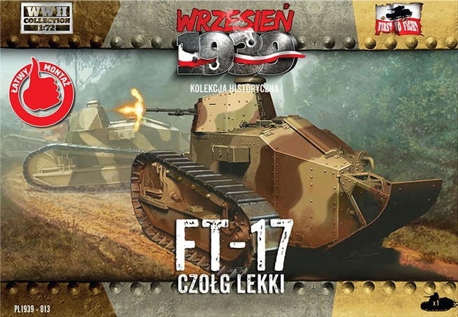 First To Fight 1/72 FT17 Light Tank w/Octagonal Turret & Machine Gun
