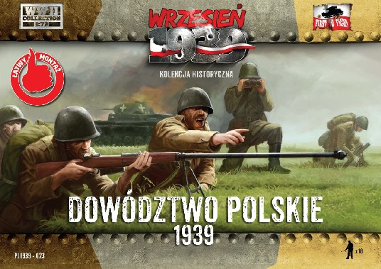 Image 0 of First To Fight  1/72 WWII Polish Headquarters Infantry Officers (18)