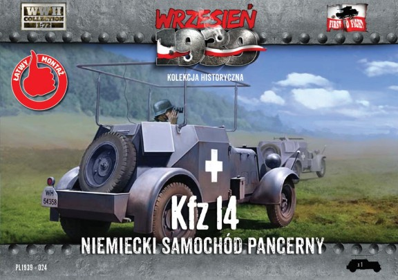 Image 0 of First To Fight  1/72 WWII Kfz14 German Armored Radio Car