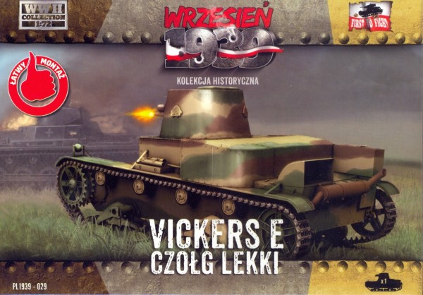 Image 0 of First To Fight Models 1/72 WWII Vickers E Polish Light Tank w/Single Turret