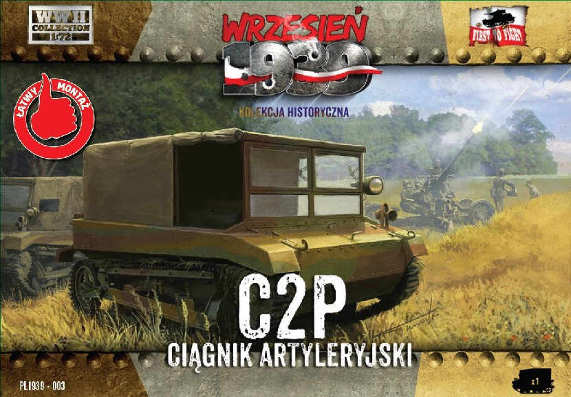 First To Fight 1/72 C2P Polish Light Artillery Tractor