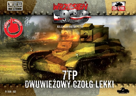 First To Fight Models 1/72 WWII 7TP Polish Light Tank w/Double Turret