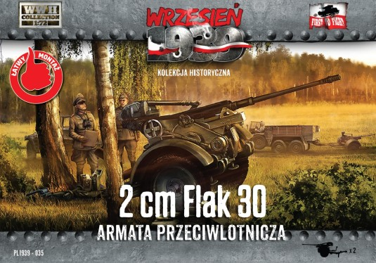 Image 0 of First To Fight Models 1/72 WWII 2cm Flak 30 Gun (2)