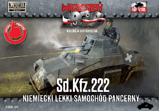Image 0 of First To Fight Models 1/72 WWII SdKfz 222 German Light Armored Tank
