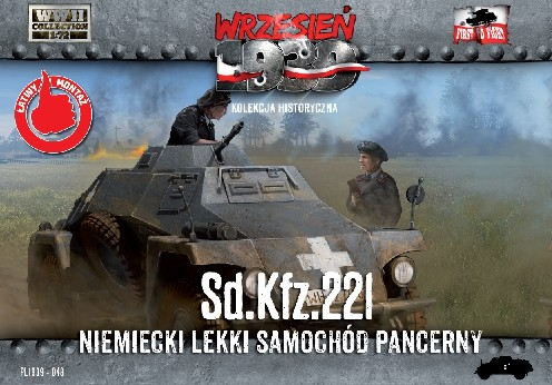 Image 0 of First To Fight Models 1/72 WWII SdKfz 221 German Light Armored Tank