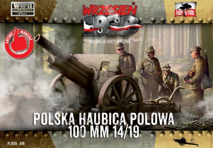 Image 0 of First To Fight Models 1/72 WWII Skoda 100mm 14/19 Polish Howitzer