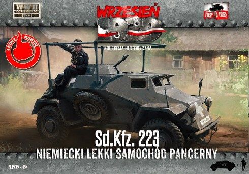 Image 0 of First To Fight Models 1/72 WWII SdKfz 223 German Light Armored Car