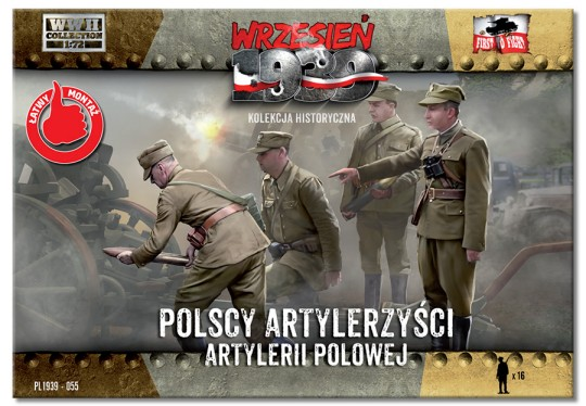 Image 0 of First To Fight Models 1/72 WWII Polish Artillery Crew (16)