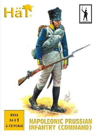 Hat 1/72 Napoleonic Prussian Infantry Command (36)