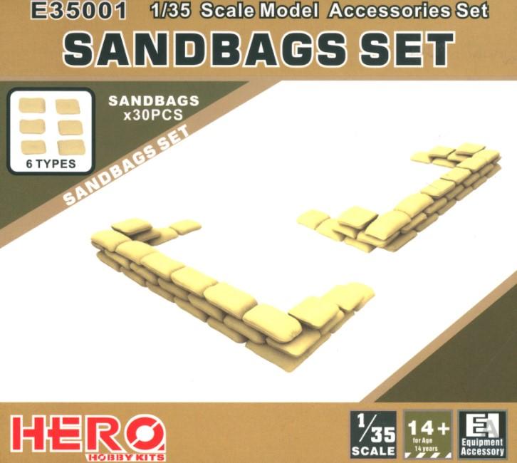 Hero Hobby Kits 1/35 Sandbags Set (30pcs)