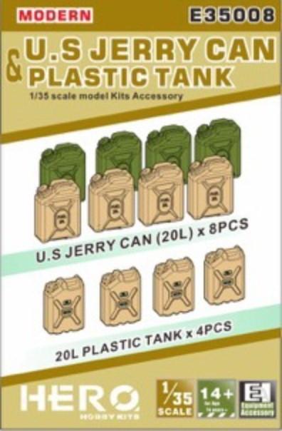 Hero Hobby Kits 1/35 Modern US Jerry Cans (8) & Plastic Tanks (4)