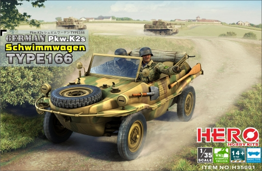 Image 0 of Hero Hobby Kits 1/35 WWII German PKW K2s Schwimmagen Type 166 Vehicle