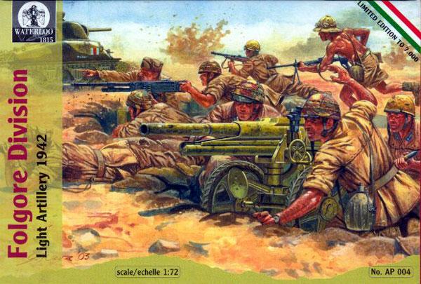 Hat 1/72 Waterloo: WWII Italian Folgore Div Light Artillery 1942 (21)